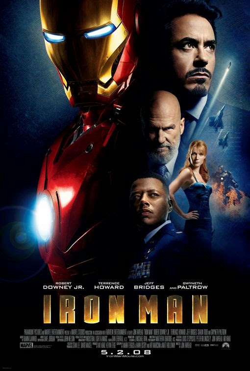 Poster Of Iron Man (2008) Full Movie Hindi Dubbed Free Download Watch Online At Alldownloads4u.Com