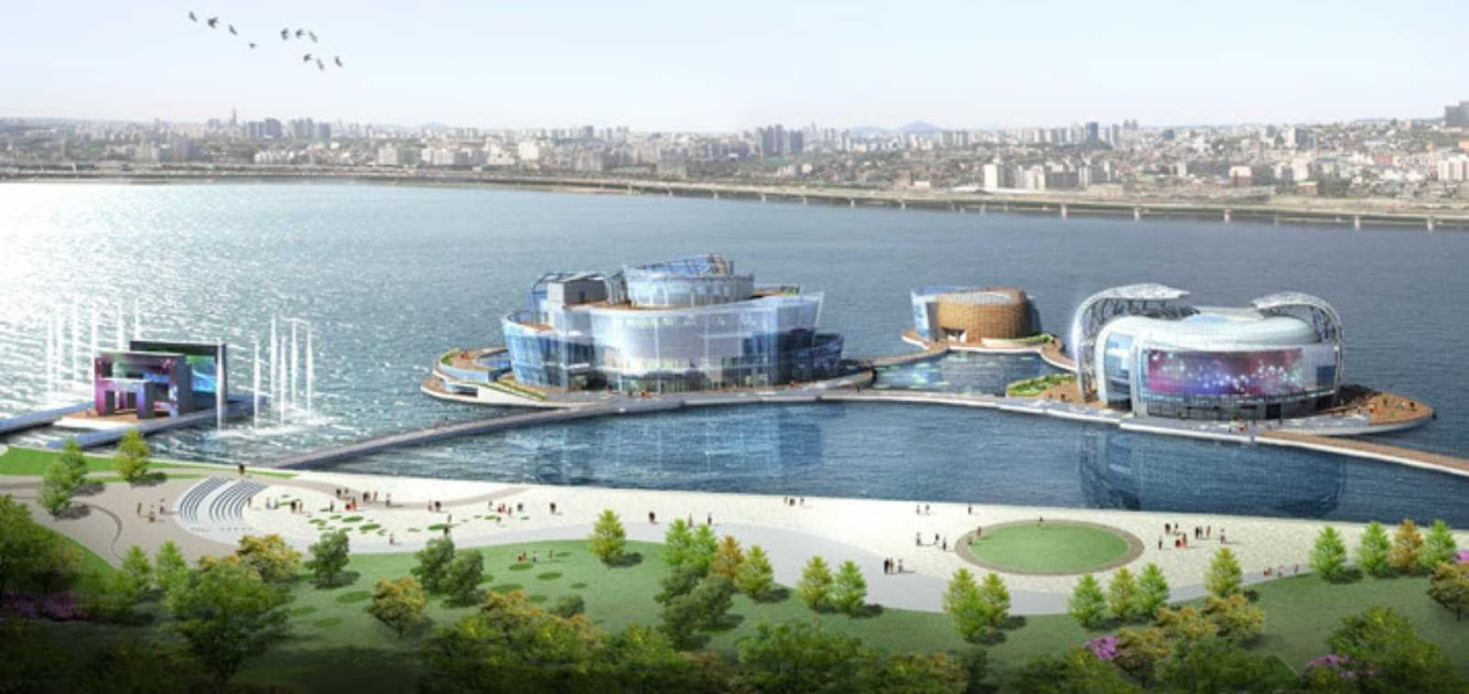 Seoul Floating Islands by H Architecture