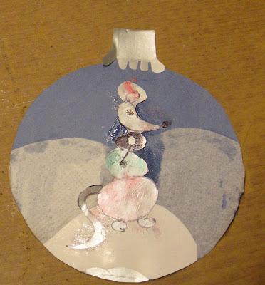 круглая открытка