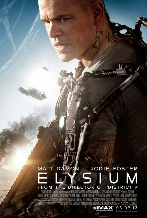 Poster Of English Movie Elysium (2013) Free Download Full New Hollywood Movie Watch Online At alldownloads4u.com