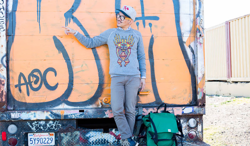 Dweller Sweatshirt on graffiti truck