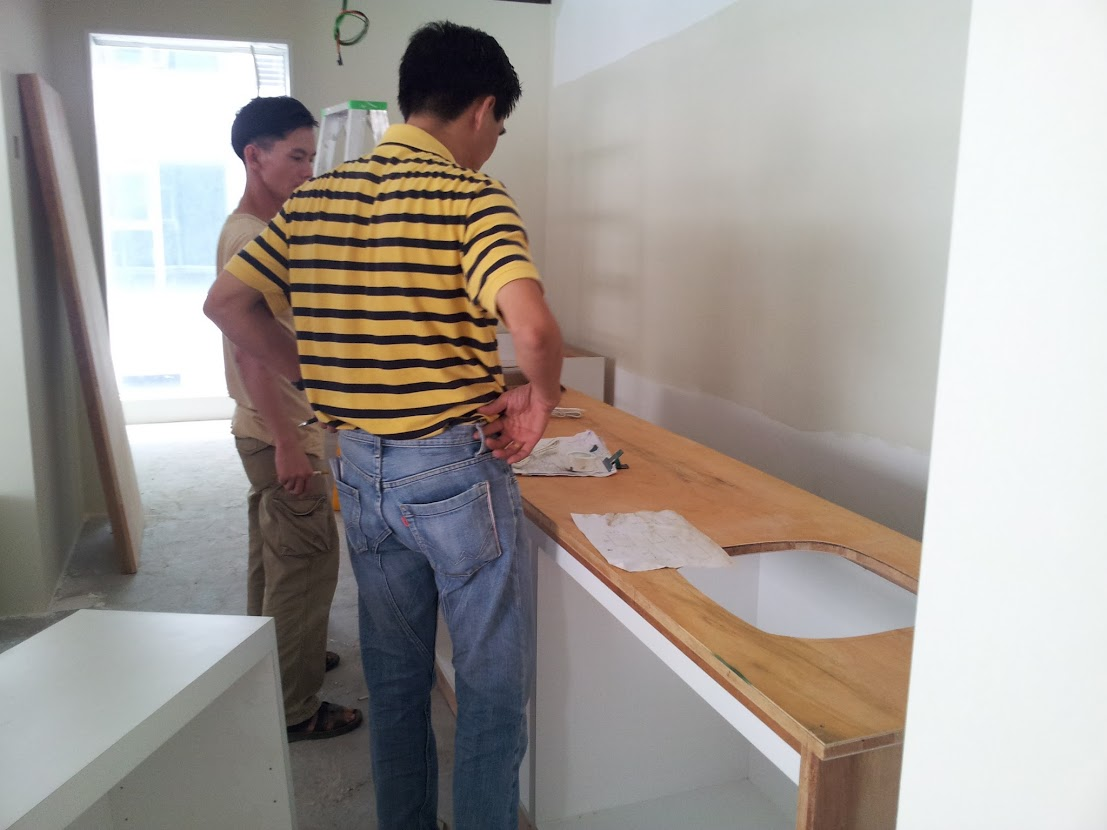 install pantry cabinet