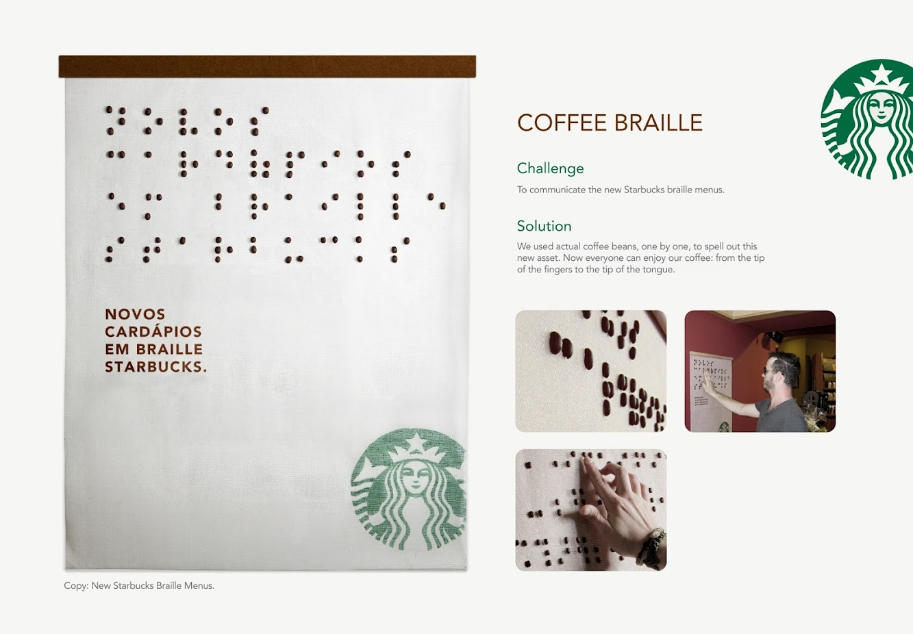 Coffee Bean Braille by Starbucks