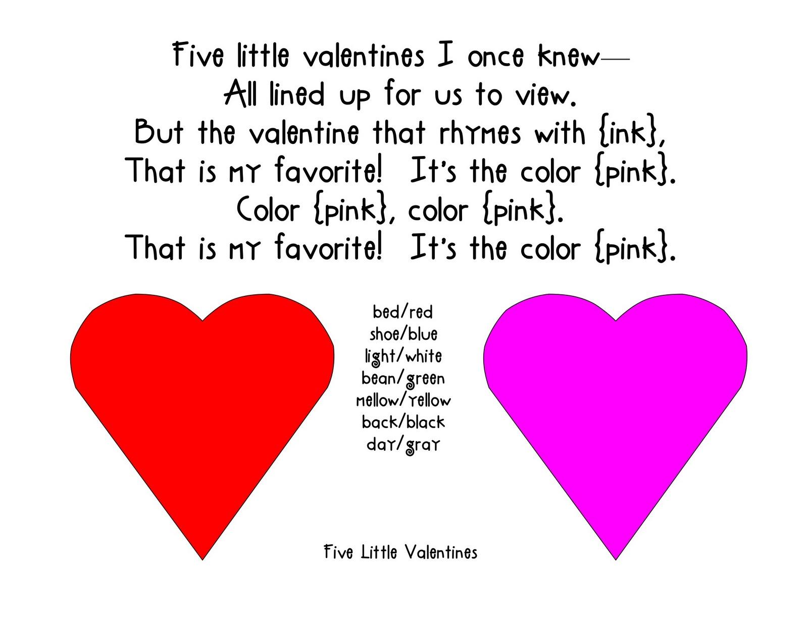 friday february 18 2011 - Preschool Valentine Songs