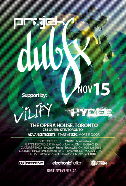 Flyer Dub Fx Toronto November 15 with VILIFY & HYDEE
