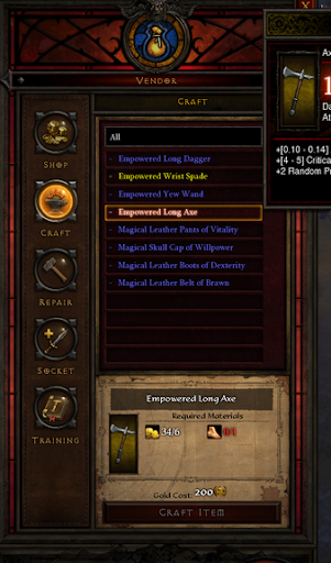 Diablo 3 crafting