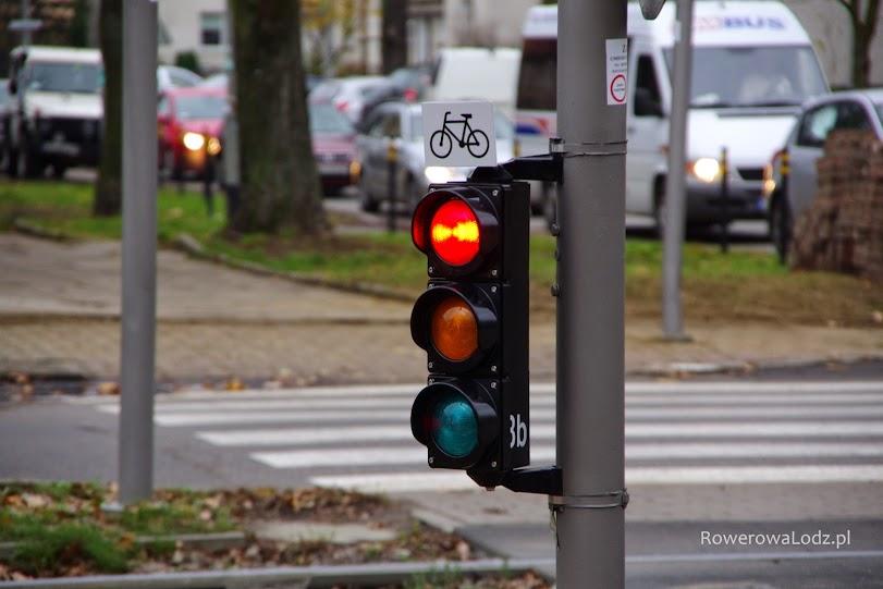 Sygnalizacja dotyczy rowerów.