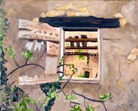 """""""Fenster eines zerfallenen Hauses 2"""" 24x30cm Öl auf Leinwand"""