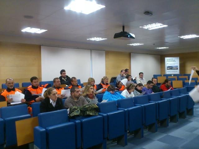 Voluntarios que han realizado el curso de SVB y DESA.