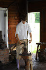 Blacksmith at the Colonial Farm Workshop