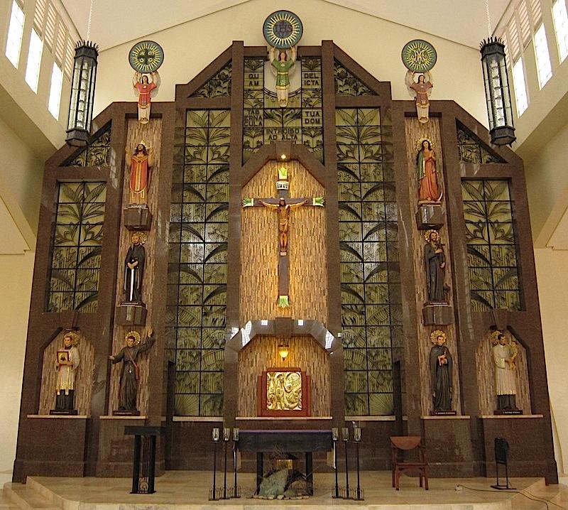 retablo of the St. Stanislaus Kostka Chapel of the Ateneo de Manila High School