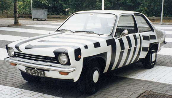 Opel Kadett Art Car By Patricia Van Lubeck