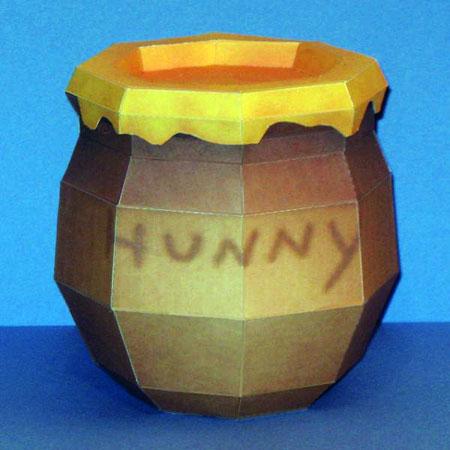 Kingdom Hearts Winnie the Pooh Hunny Pot Paper Model