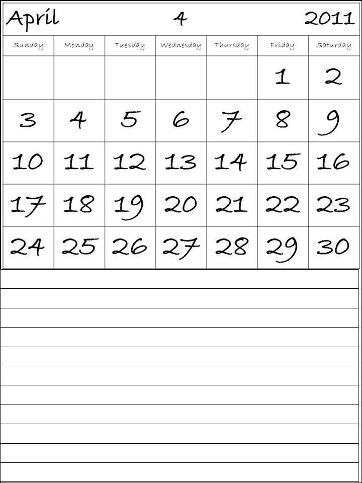 april may 2011 calendar template. 2011 Calendar Template Free.