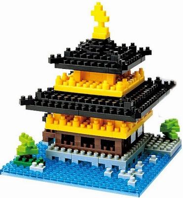 Mô hình Ngôi đền Kinkaku-ji Temple xếp hình Nanoblock