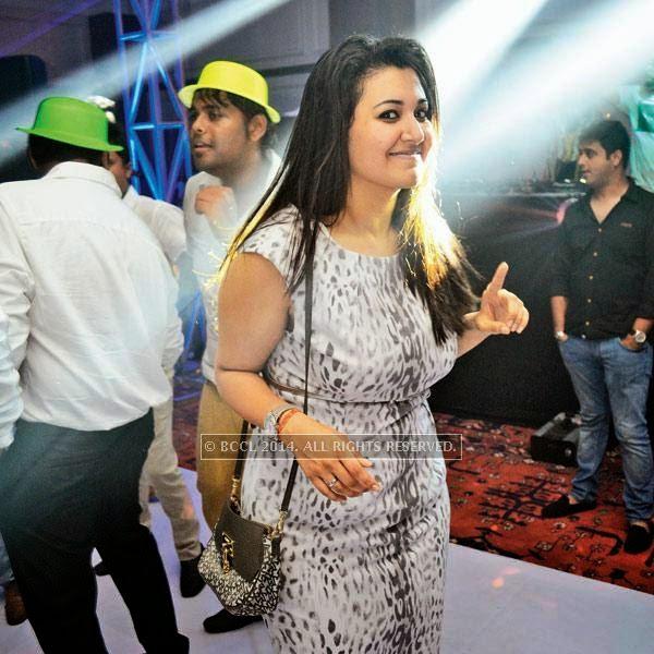 Riya at a party, held in Bhopal.