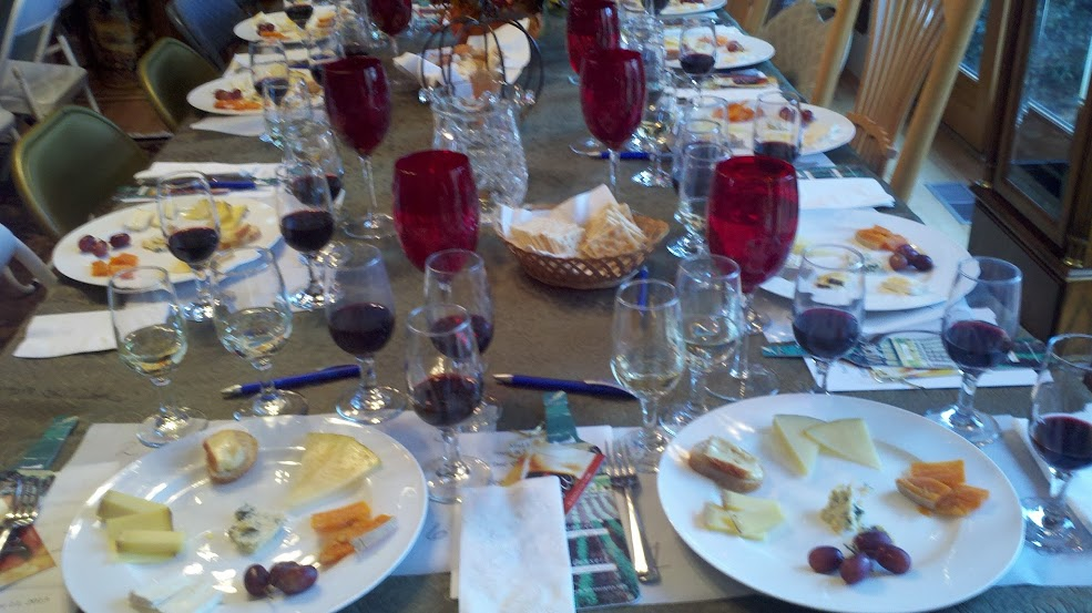 wine cheese tasting, wine education, wine tasting