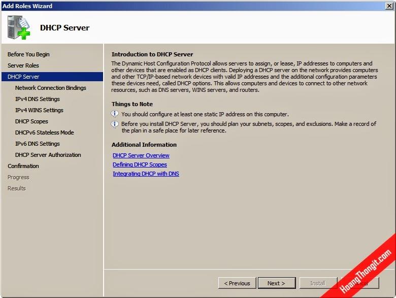 Cài đặt và cấu hình Netwrok Access Protection cho DHCP