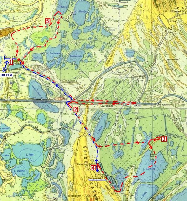 fragment harta Delta Dunarii
