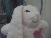 "6"" Cotton Sherpa Bunny"