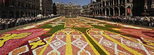 Bruselas Valonia: alfombra floral