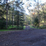 Looking towards the back pack camping area
