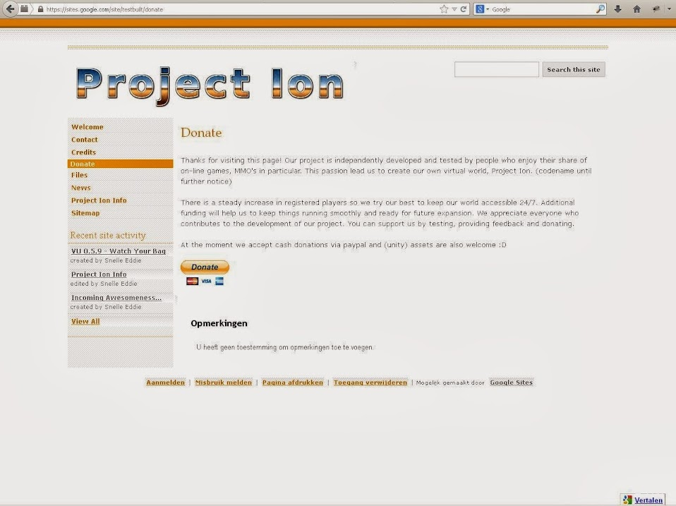 Friends from Project Ion (Donations) Donate001