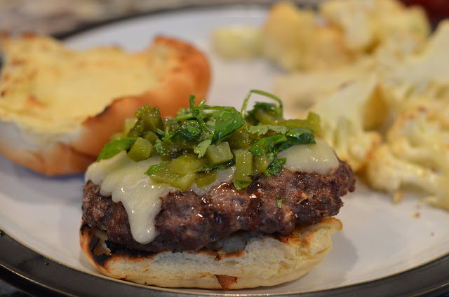 Green Chile Burgers {PEAsandcues}