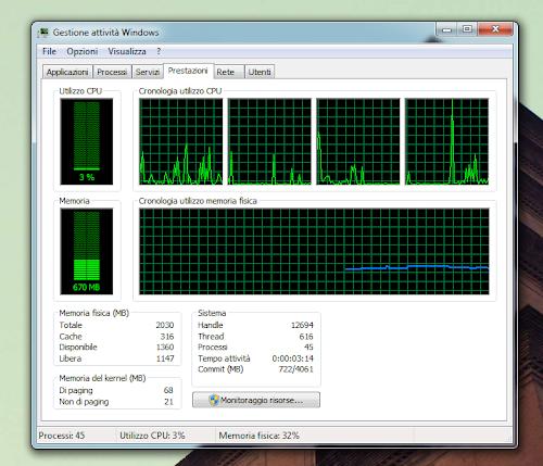 Risorse Windows 7