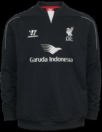 Sweater Pre Match Liverpool Hitam 2014-2015
