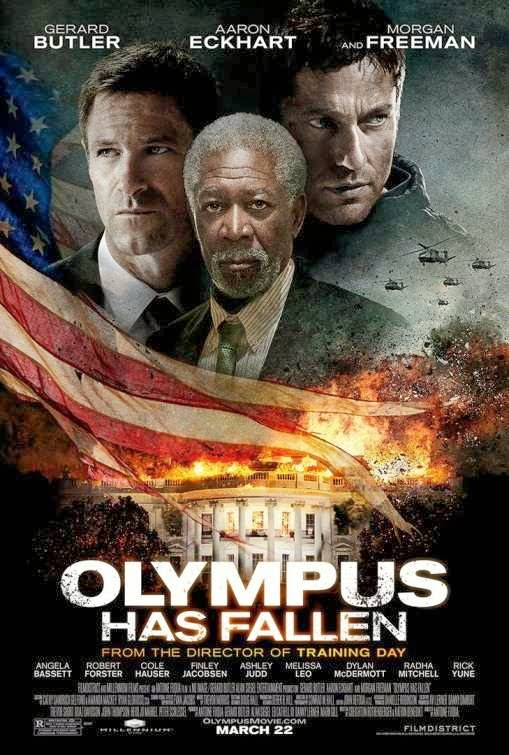 Poster Of Olympus Has Fallen (2013) Full Movie Hindi Dubbed Free Download Watch Online At Alldownloads4u.Com