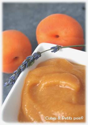 recette bébé 12 mois compote abricot lavande