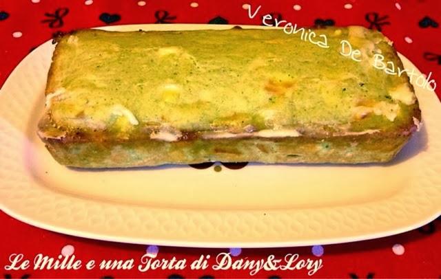 plumcake di zucchine e provolone