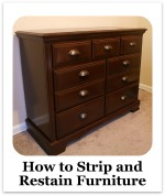 Stripping and Restaining Furniture