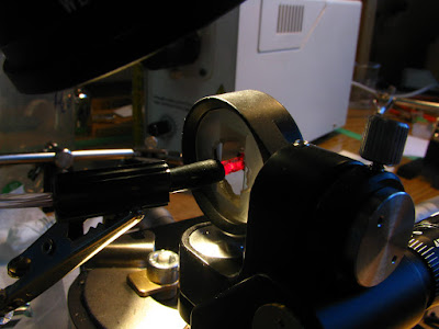 experimental setup using mirror on gimbal