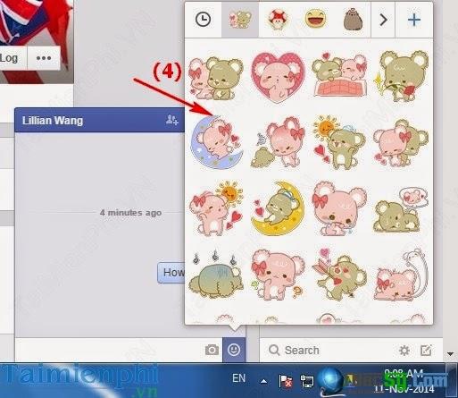 Hình 4: thêm biểu tượng chat facebook