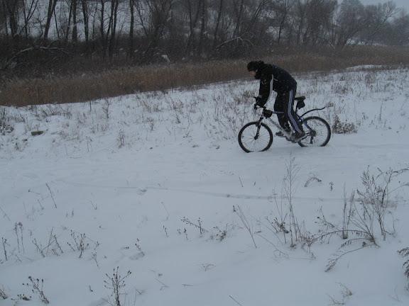 велосипедная прогулка бугайка зима