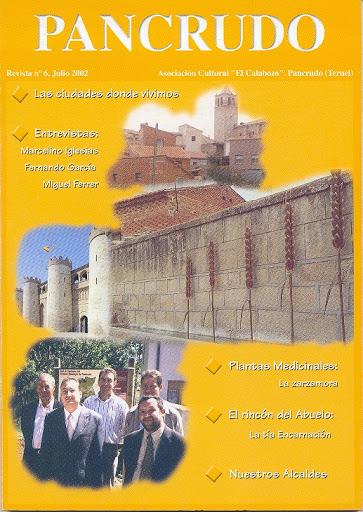 Portada Revista Pancrudo nº6 (2002). Colage fotos