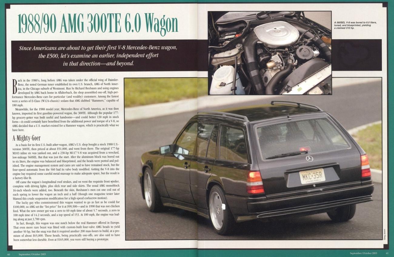 G Wagon 6X6 >> Mercedes-Benz W124 300TE AMG 6.0 WAGON | BENZTUNING