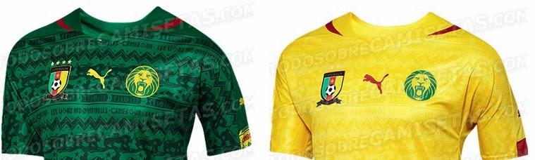 417e1ac2d Cameroon Kits 2014 World Cup Home   Away Shirts - Leaked