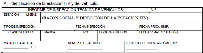 Última modificación apartado A informe de Inspección