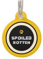 Yellow Custom Dog ID Tag
