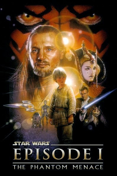 Poster Of Star Wars: Episode I - The Phantom Menace (1999) Full Movie Hindi Dubbed Free Download Watch Online At Alldownloads4u.Com