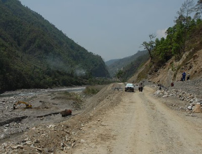 New road along the Tamba
