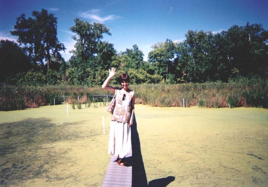 Прогулка по искусственному болоту. Кампус  университета в Огайо (США). 1999 год