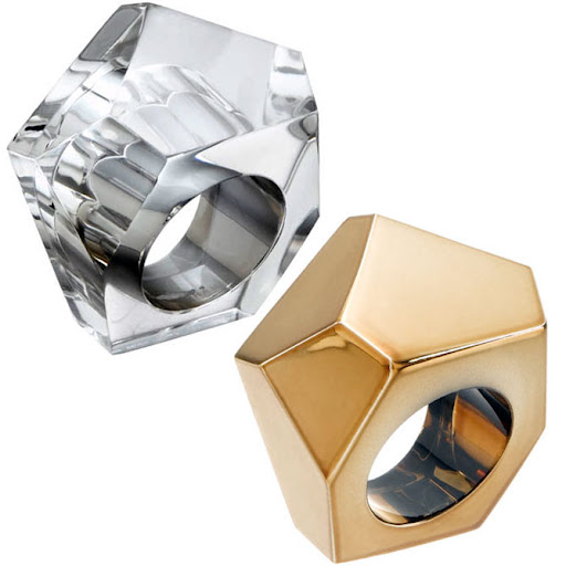 Marc by Marc Jacobs Faceted Ring Molded Resin