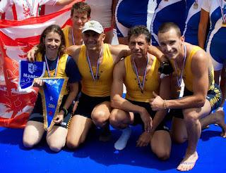 Championnat de France Vétérans 2014 (Mâcon) 4+ vétérans vainqueurs