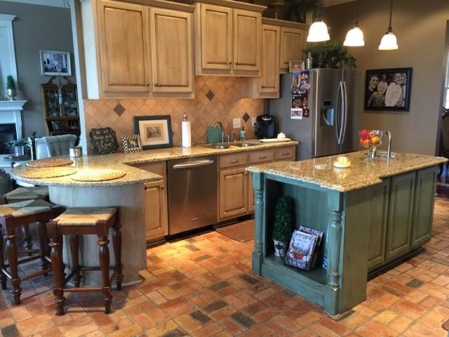 Annie Sloan Painted Kitchen Island