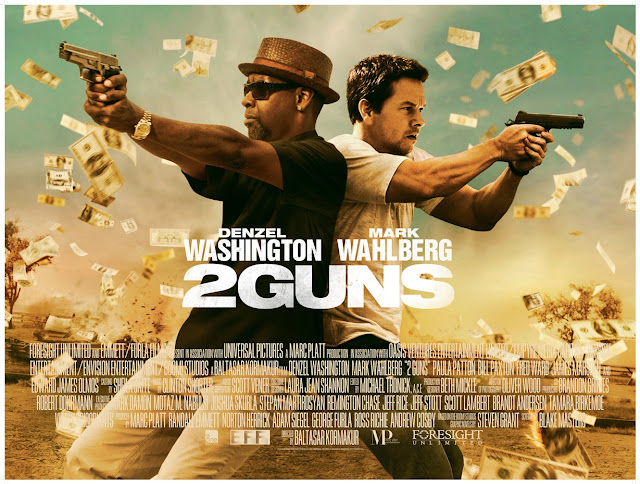 2 GUNS UK QUAD POSTER