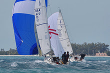 J/80s planing at Key West Race Week